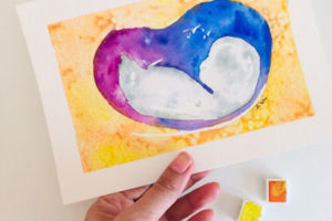 Watercolor ultrasounds